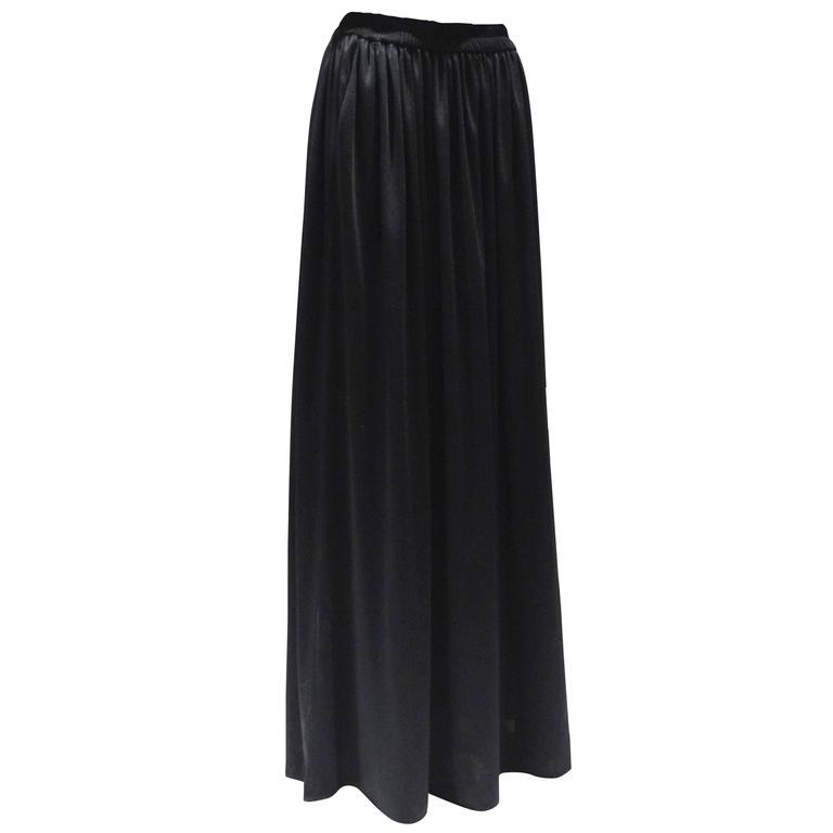 1980s Saint Laurent, Yves Black Maxi Skirt