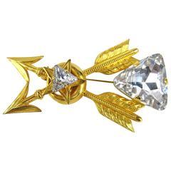 Philippe ferrandis Swarovski Crystal Brooch / Pin New Old Stock 1990s