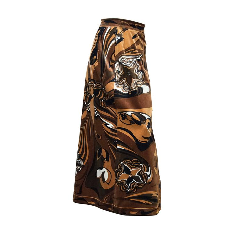 Pucci Velvet Evening Skirt For Sale