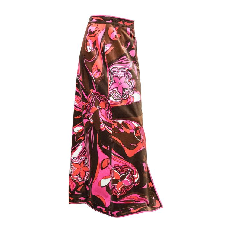 1960s Pucci Velvet Evening Skirt