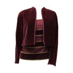 Gianni Versace Velvet Two Piece