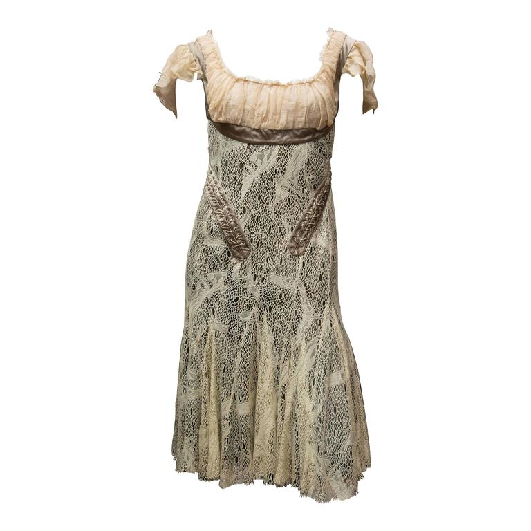 2002 Alexander McQueen 'Milkmaid' Corset Cocktail Dress