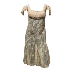 2002 Alexander McQueen 'Milkmaid' Corset Cocktail Dress