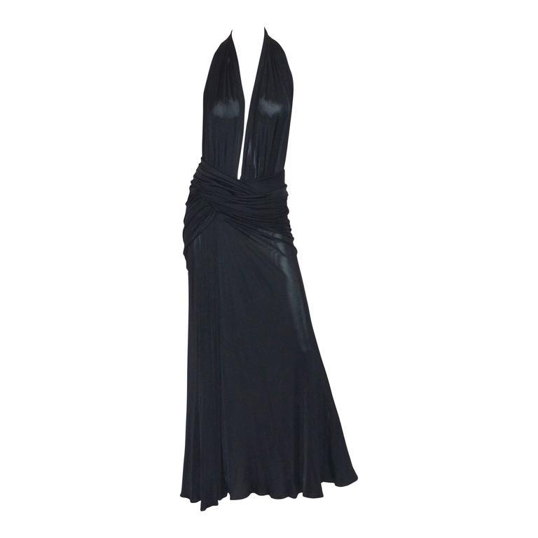 Versace Vintage Silk Jersey Gown 1