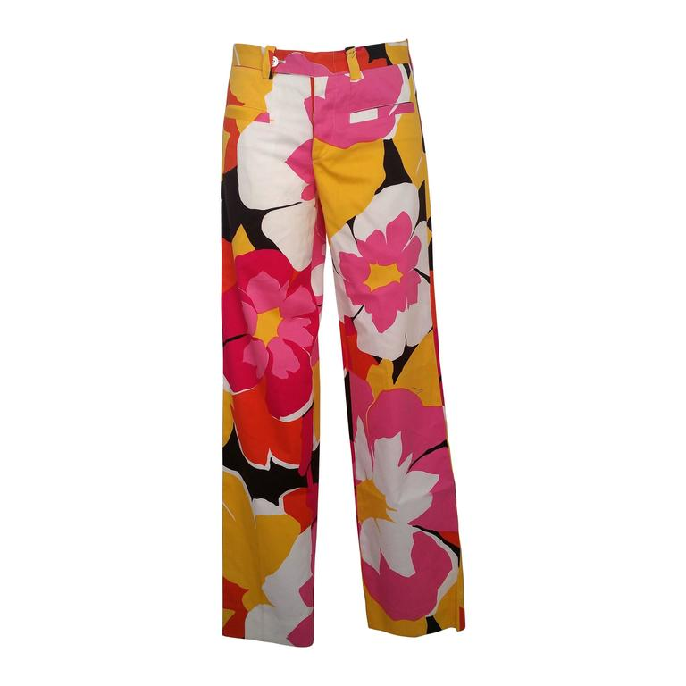 1990s Gucci by Tom Ford Limited Edition multicolour trousers 1