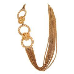 1960s multichain belt / necklace