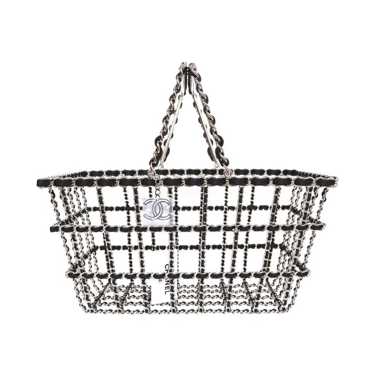 79669209aeb0 Chanel NEW Limited Edition Runway Grocery by Chanel Shopping Basket rt.   12