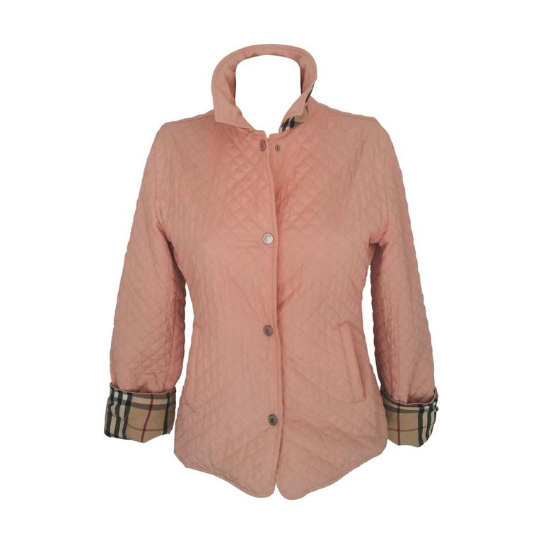 1990s Burberry pink bomber