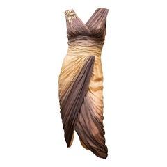 1950s Ombre Evening Dress