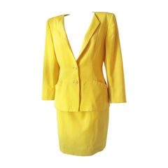 1980s Christian Dior yellow suit