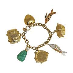 Moschino gold charm bracelet, c. 1990s