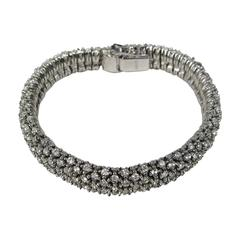 1980s Ciner Crystal Swarovski Encrusted  Bracelet- New Old stock