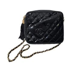 Chanel Quilted Patent Leather Crossbody Bag