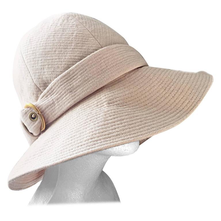 2eb969d9a14 Rare Iconic Yves Saint Laurent Vintage Safari Hat from 1968 Safari  Collection For Sale