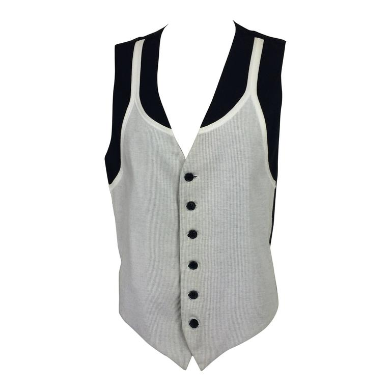 "Moschino ""wife beater"" vest Cheap & Chic 1980s"