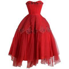 Vintage 1950s Ceil Chapman Diamond Sequins Dress