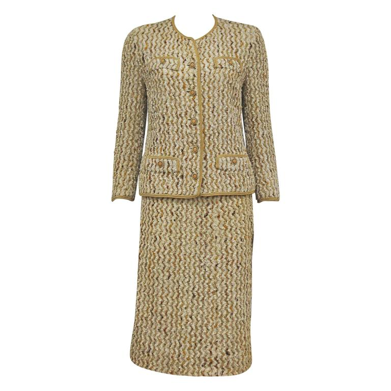 Chanel haute couture boucl skirt suit for sale at for Haute couture suits