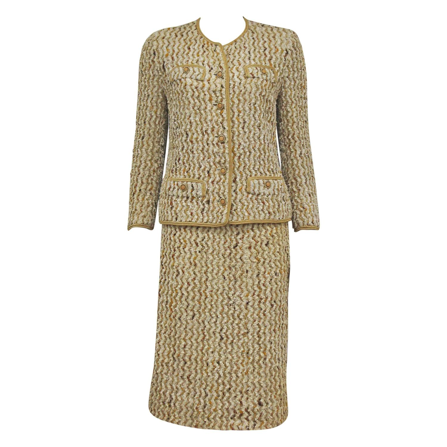 chanel haute couture boucl skirt suit for sale at