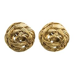Chanel Clip - On Earrings, Circa 1970's