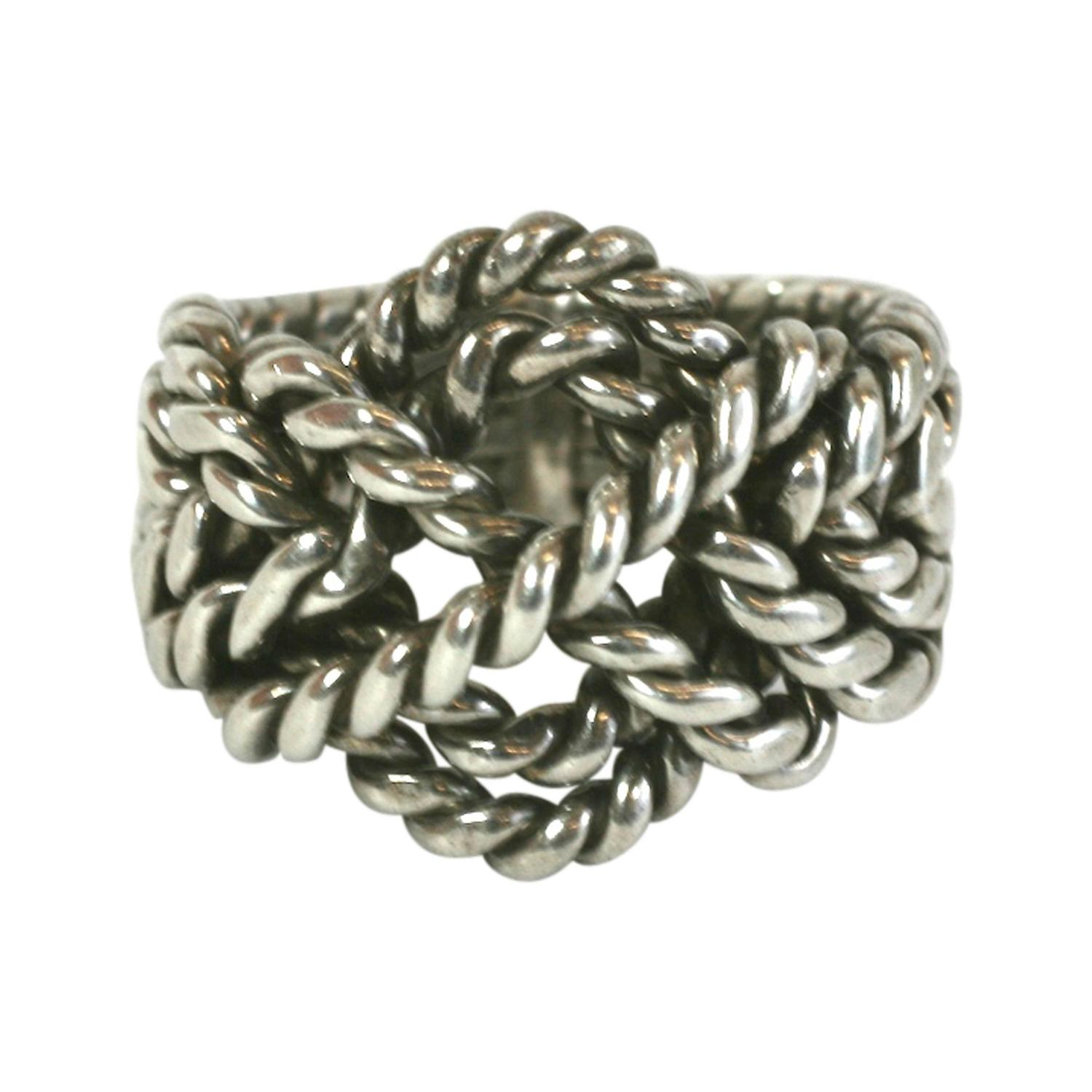 handmade sterling puzzle ring for sale at 1stdibs