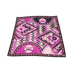 Pucci Geometric Silk Scarf Vintage