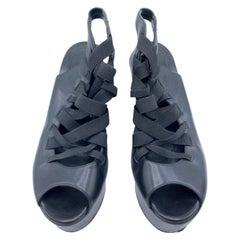 Georgina Goodman Black Leather Platform Shoes