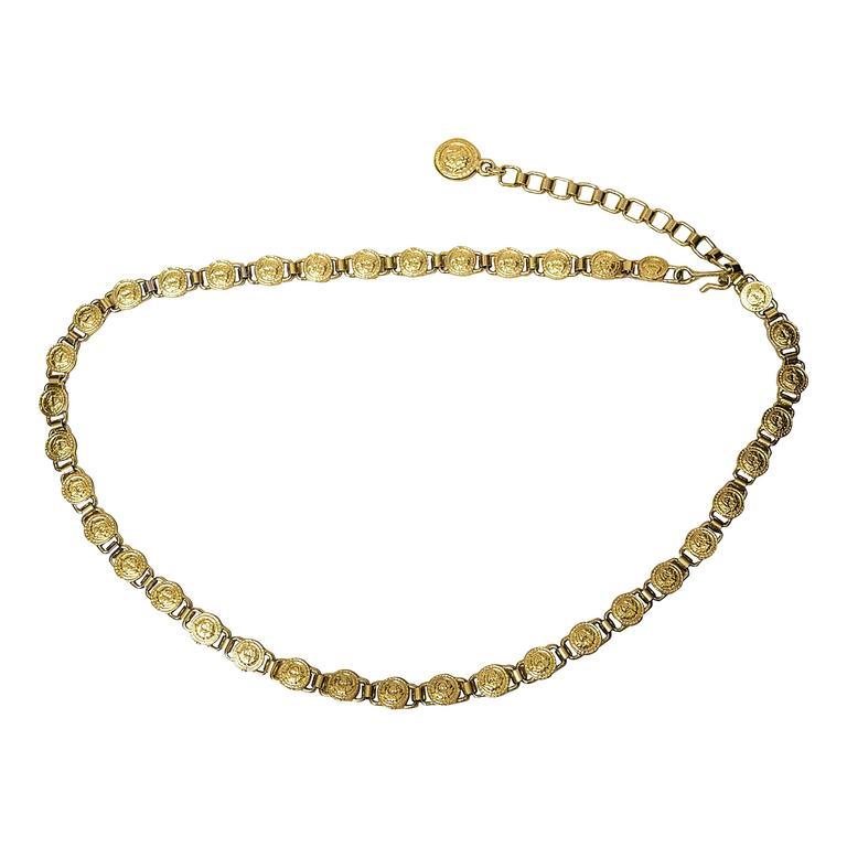 Gianni Versace chain belt.
