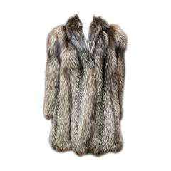 1940s Silver Fox Fur Coat