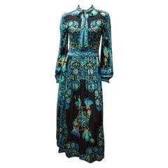 1970s Leonard Silk Jersey Maxi Dress