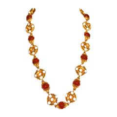 1970s Kenneth Jay Lane Burnt Sienna Necklace