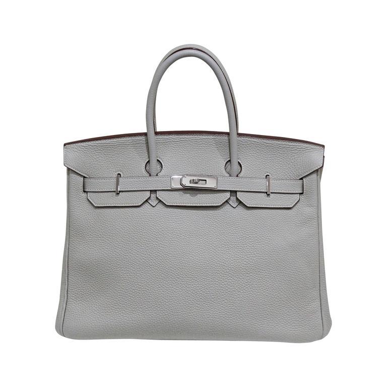Hermes 35 cm Birkin Bag in Clemence Leather 1