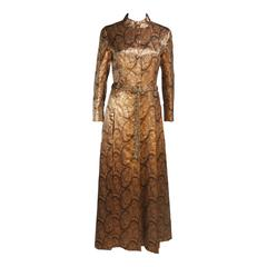 DYNASTY Bronze Paisley Coat with Beaded Belt Size 4-6