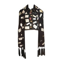 ELIZABETH MASON COUTURE Vintage Label Applique  Wrap ONE of a KIND
