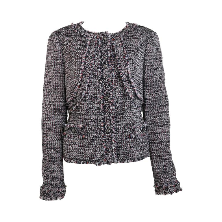 Chanel Classic Multi-Colored Tweed Jacket For Sale
