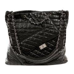 Chanel Black Calfskin Reissue Pocket Tote