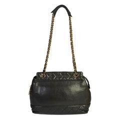 Chanel 80s Black Vintage Shoulder Bag