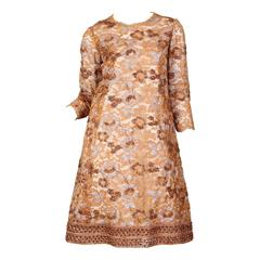 1960s Sarmi Embroidered Lace Dress
