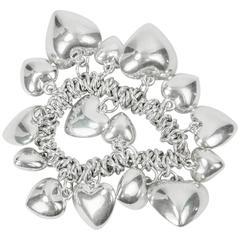 Continuous Loving Hearts Silver Bracelet