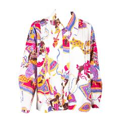 1980s Rare Saint Laurent Cotton Printed Shirt
