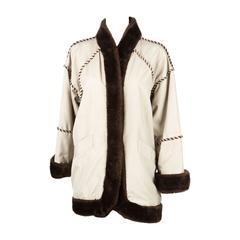 1980s Rare Saint Laurent Camel Pelisse Coat