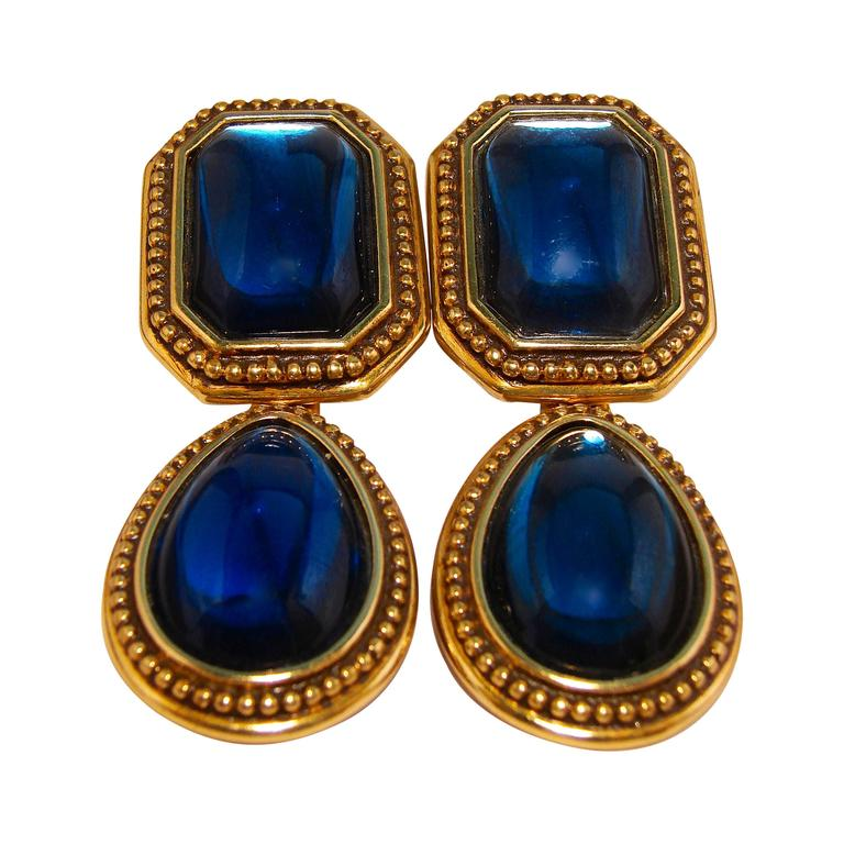 vintage to deco czech glass p earrings sr art htm egyptian goddess blue