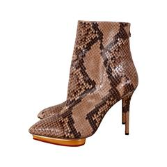 Charlotte Olympia Deborah python boots