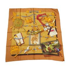 """Memorie d ' Hermes"" by Caty Latham  HERMES vintage scarf in gold"
