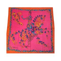 Hermes Shawl - Pink and Orange