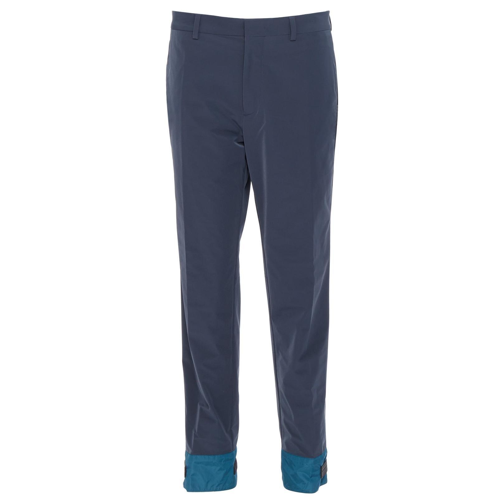new PRADA 2018 black sportswear logo cuff hem track pants trousers IT52 XL