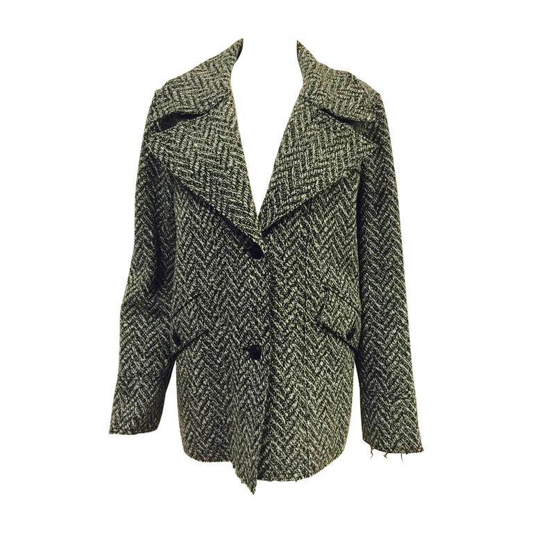 Chanel Fall 2008 Black and White Wool Tweed Jacket
