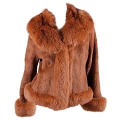 Black Fur Coat - fox & rabbit brown