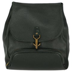 Louis Vuitton Woman Backpacks Green Leather