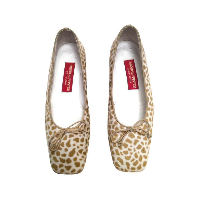Andrea Pfister Flat Shoes - Spotted Pony Hair - Size 37.5