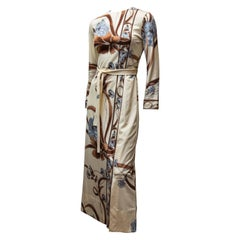1970s Cream Leonard Silk Jersey Dress